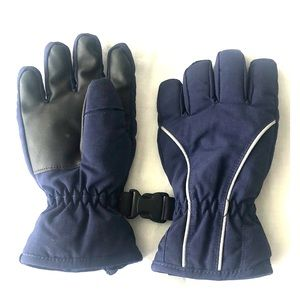 Navy and black gloves